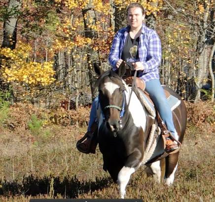 Jacinda on her first ride