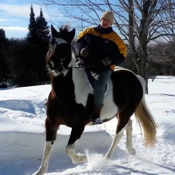 riding Seeker in winter