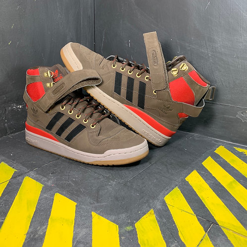 "Adidas Forum HI - ""Brown/Scarlet"" (Sz. 10)"