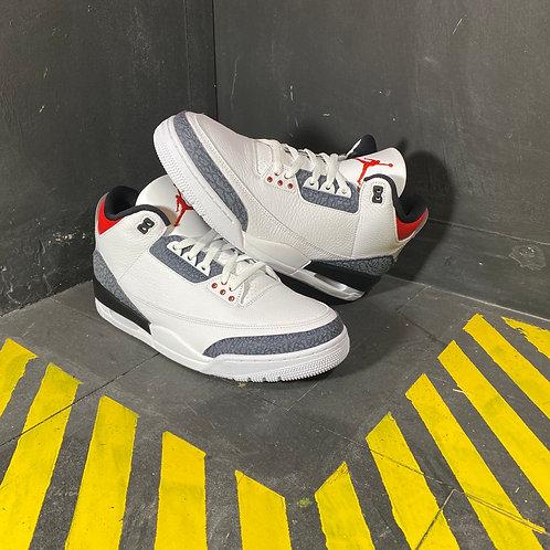 "Air Jordan 3 - ""Fire Red Denim"" (Sz 12)"