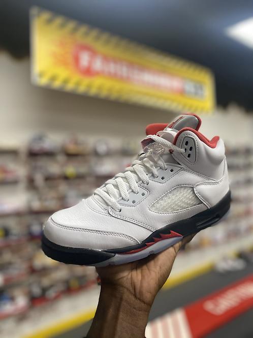 """Air Jordan 5 - """"Fire Red"""" (Sz 7Y)"""