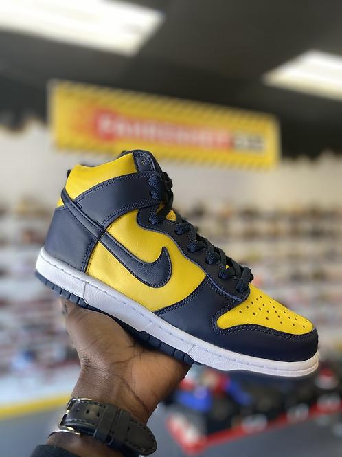 """Nike Dunk HI - """"Michigan"""" (Sz 8.5)"""