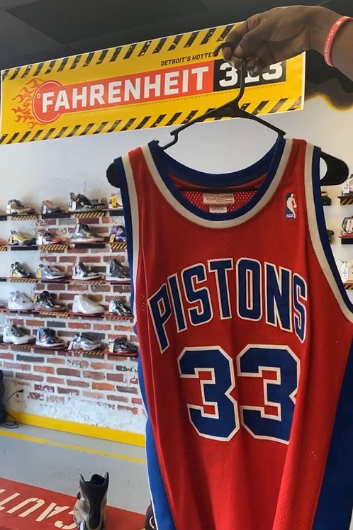 Grant Hill - Authentic Detroit Pistons Mitchell & Ness Jersey