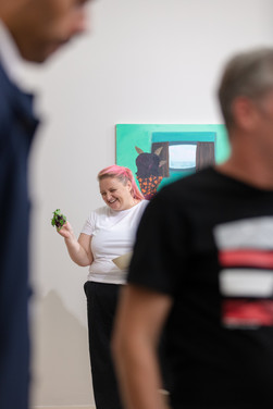 'Woman with Salad' a performance by Emily Perry, Focal Point Gallery