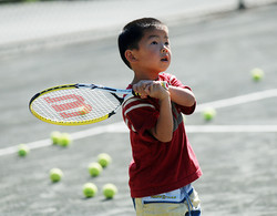 boy with racquet
