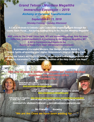 Grand Tetons - Montana Megaliths Immersion Excursion – 2019