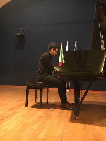 Benedek Horvath en répétition à Viterbo