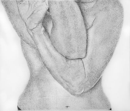 """""""Torso"""" Pencil on paper 50X70 cm © Anat Merav"""