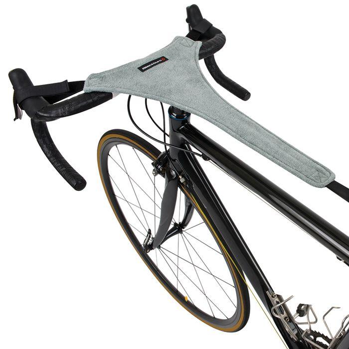cloth on handlebars of bicycle