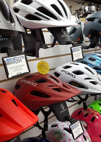 Giro and Bell Helmets