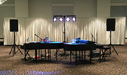 Our Dueling Piano Set Up!