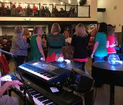 Ladies singing along!