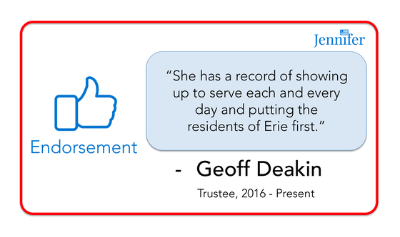 Endorsement from Trustee Geoff Deakin