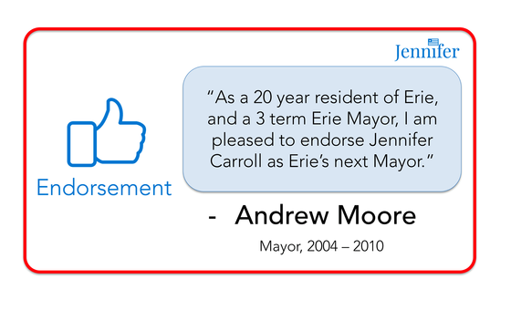 Endorsement from former Mayor Andrew Moore