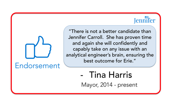 Endorsement from Mayor Tina Harris