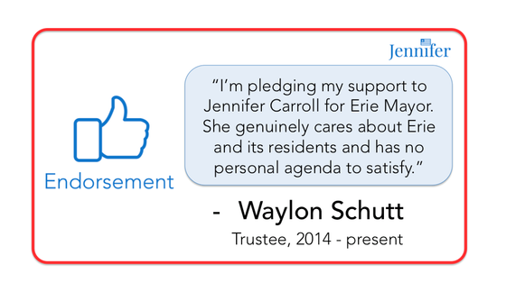 Endorsement from Trustee Waylon Schutt