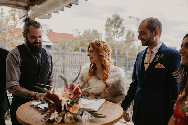 Signing Papers in Wedding