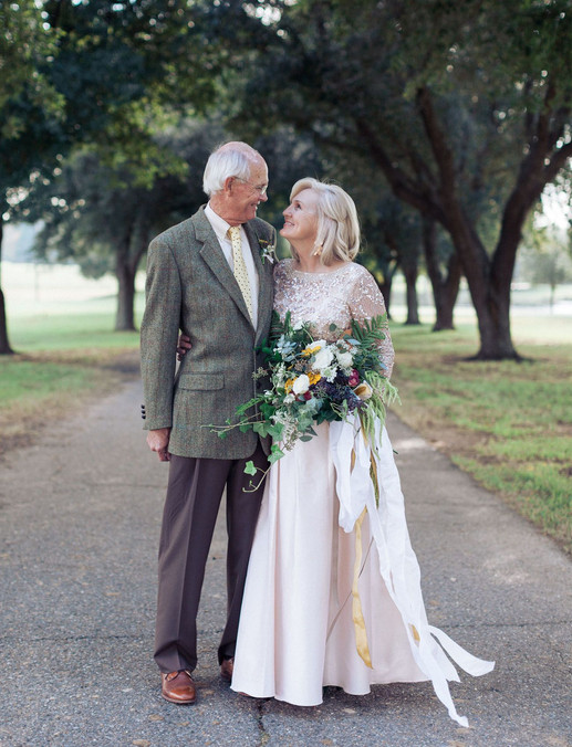 Older Couple Renewing Vows