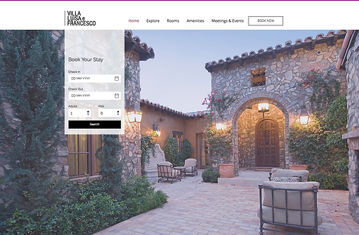 Villa Luisa Francesco - Web Design