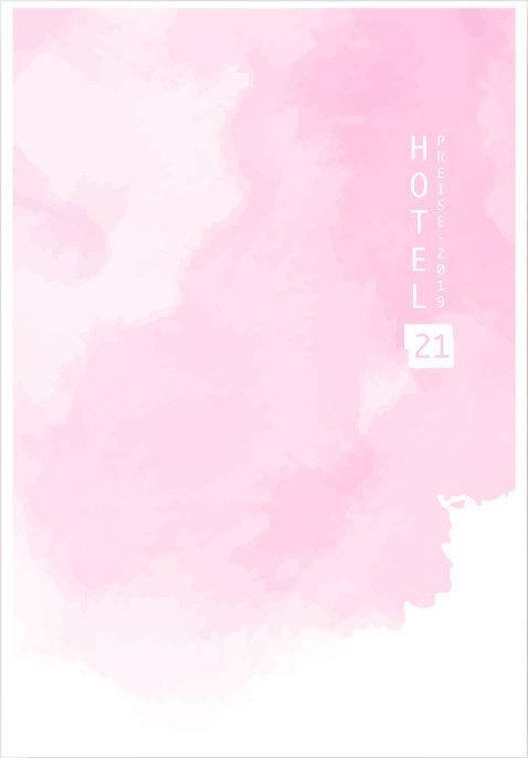 Hotel 21 - Design der Preisliste