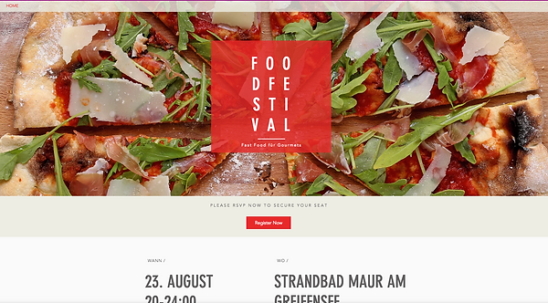 FoodFestival - Landing Page