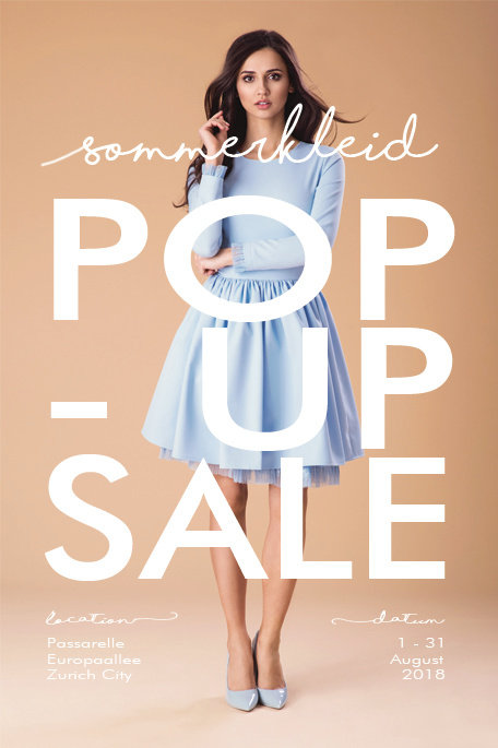 Sommerkleid Fashion - Promotion Flyer Design