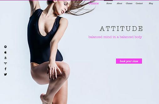 Attitude Dance Studio - Web Design