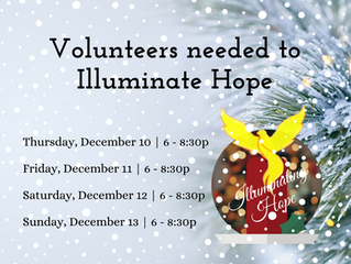 Sign up to volunteer for Illuminating Hope Christmas Light Drive