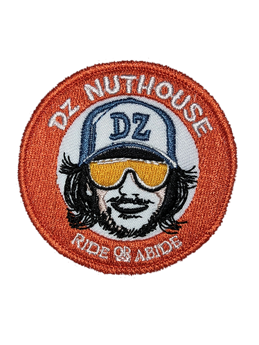 Embroidered Iron-On Ride or Abide Patch