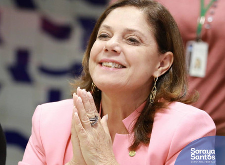 Soraya Santos (PR/RJ) é a primeira mulher a ocupar 1ª secretaria da Câmara