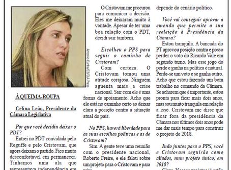 Correio Braziliense – À QUEIMA ROUPA Dep. Celina Leão