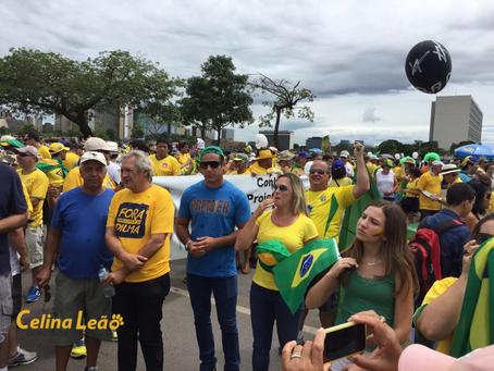 Celina Leão vai à Esplanada protestar contra o governo Dilma