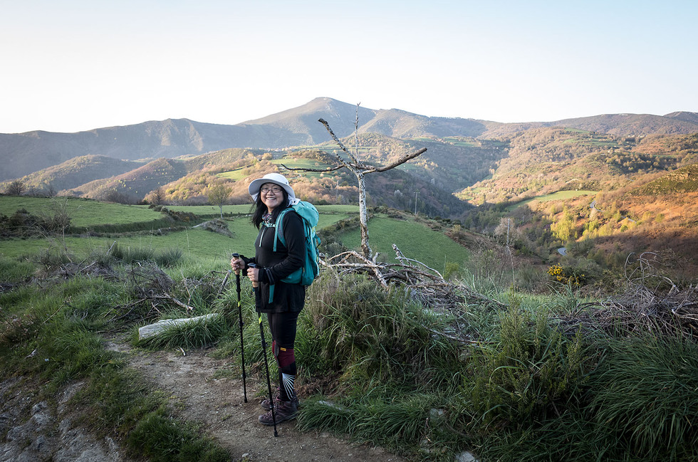 Wendy (China) is walking the Camino in support of her partner, Don. She has developed a new love for Spanish bread and olive oil during her Camino.