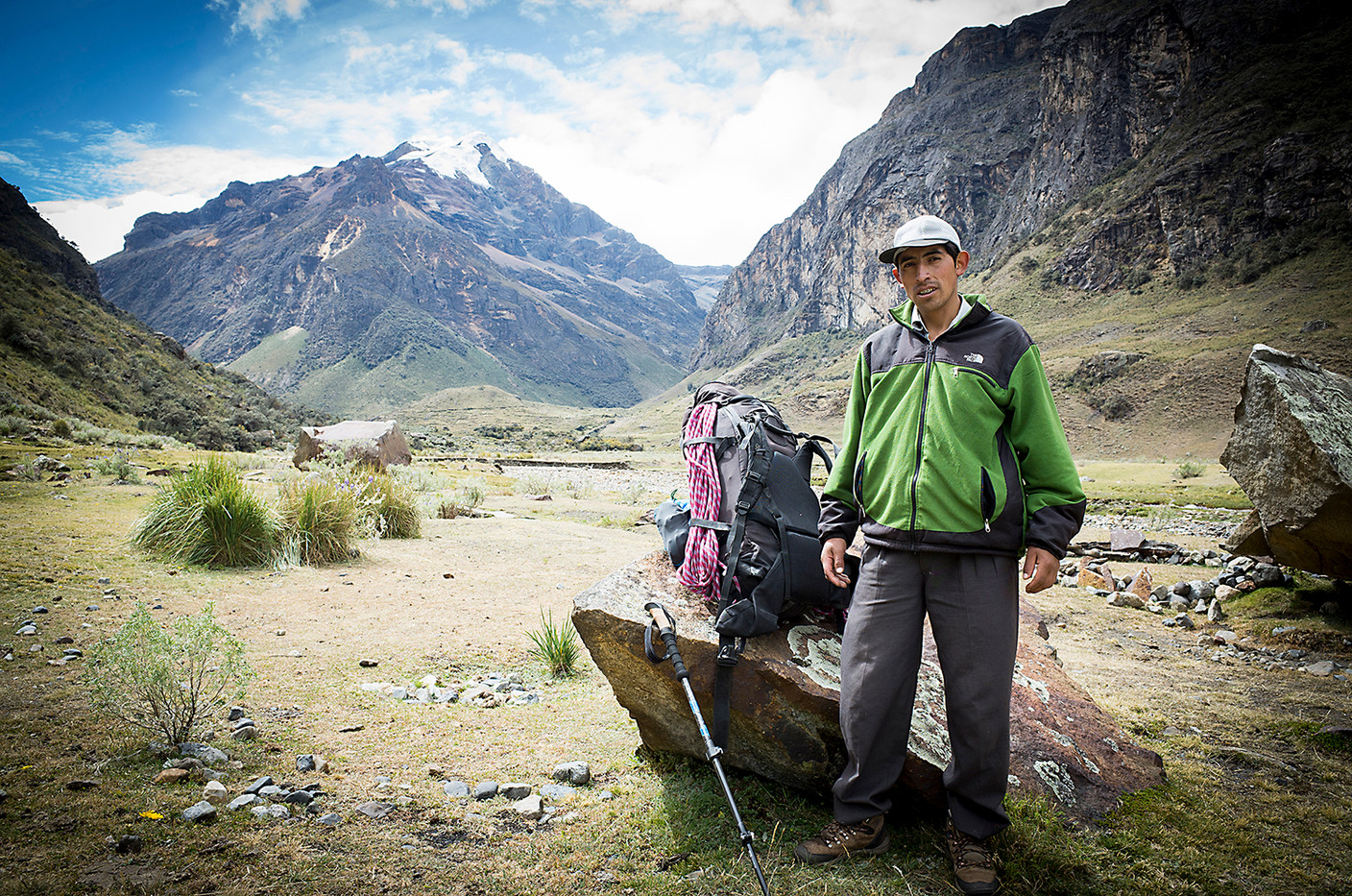 Simeón is a porter from Llupa, a small village outside of Huaraz. He proudly states that he has worked with Brad Johnson, the American climber and author of the definitive English guide to climbing in the Cordillera Blanca.