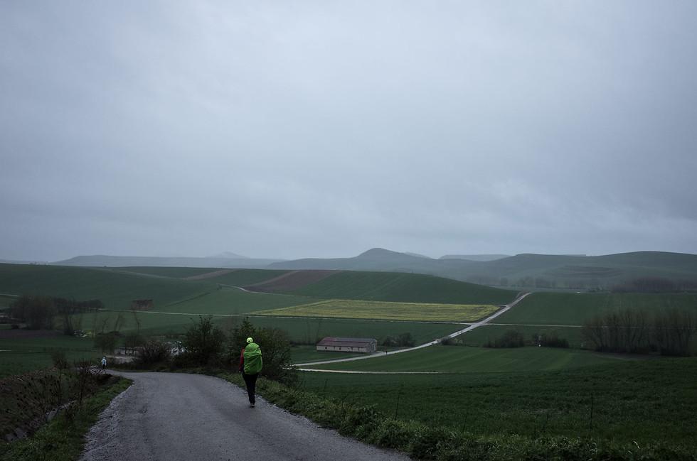A wet morning in Navarra.