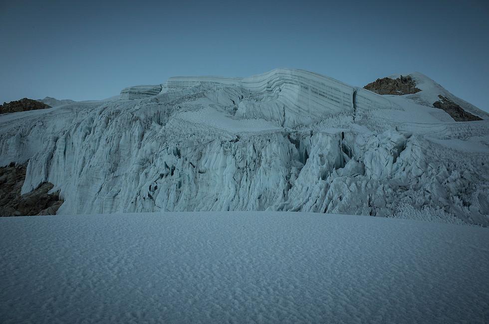 Ice formations on Ishinca.