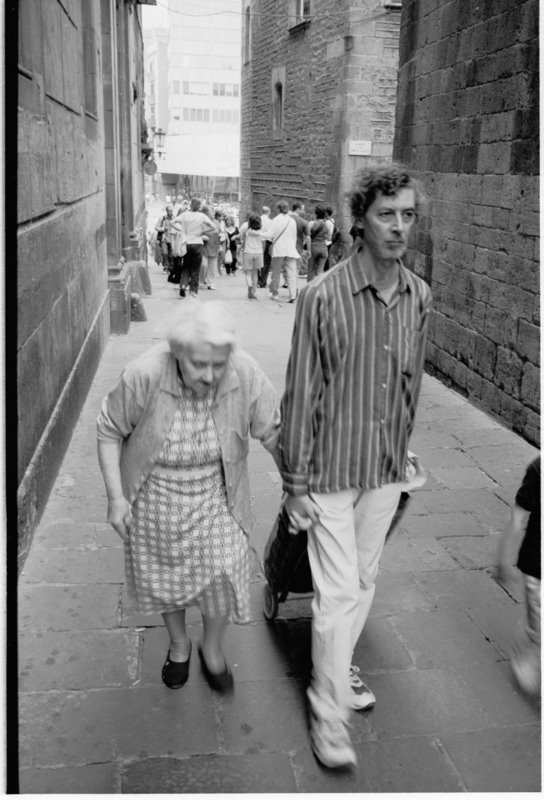 Mum & Son Barcelona - by David Peat