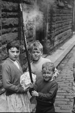 Boys Burning Stick - by David Peat