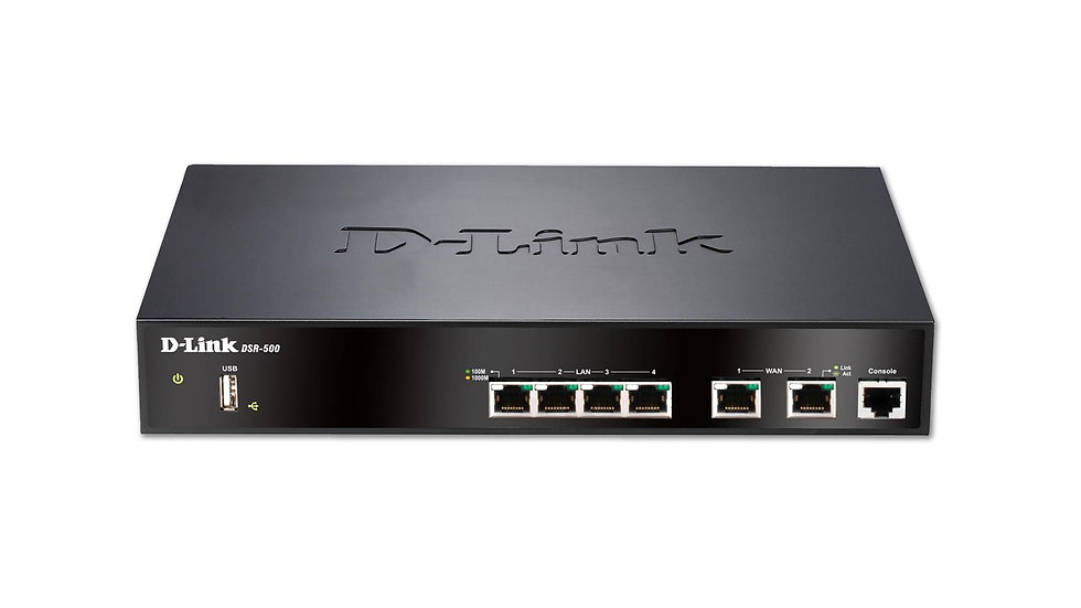 D-Link DSR-500 VPN Service Router with Firewall Support