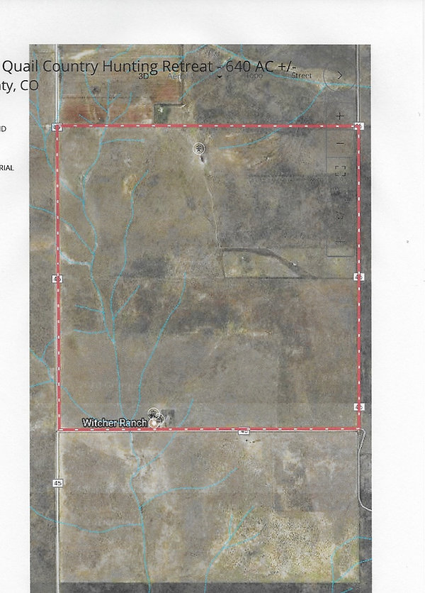 CO quail hunting ranch for sale