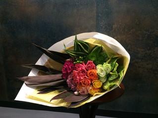 グラデーションの花束
