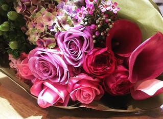 大人ピンク花束