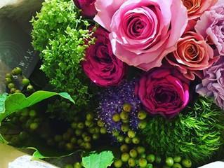 パステル色の花束