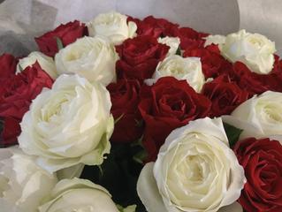 高級感あふれる花束