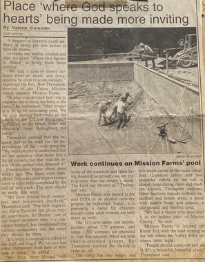 Mission Farm, Camp Ara Swimming Pool Addition