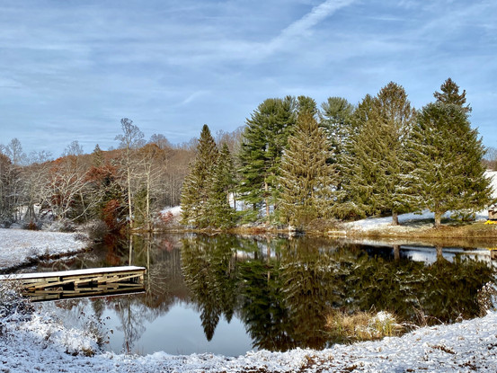 Camp Ara Pond in Winter