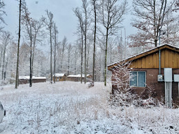Camp Ara Cabins in the Snow