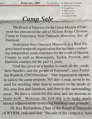 Mission Farm, Camp Ara, GNO Purchase
