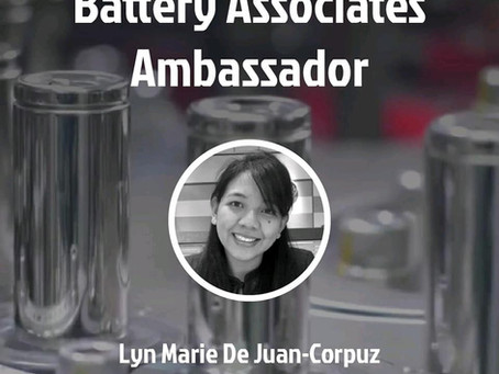 Co-founder and CTO Dr. Lyn Corpuz of Nanolabs joins the league of Battery Associates Ambassadors