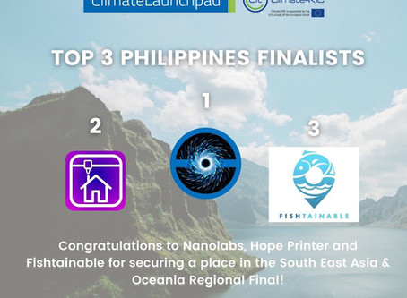 Nanolabs bagged the 2020 ClimateLaunchpad National Finals Competition in the Philippines